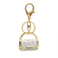 Customized manufacturer high quality bag shape charm keychain