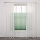 Cloth green jalousie windows design honeycomb curtain blinds for window