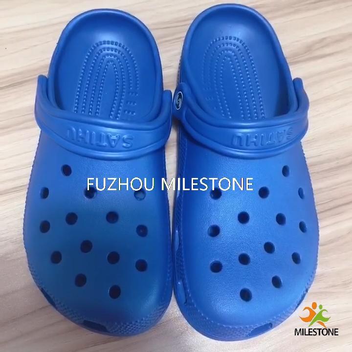 Clássica piscina homens chinelo de praia plana perfurada respirável sandálias de verão ao ar livre mulher estampas de leopardo sapatos eva entupir croc
