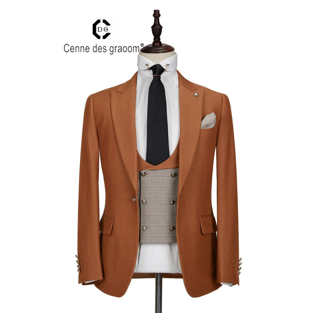 Wholesale price china supplier2020 new arrival cheap price men's <strong>suits</strong> brown <strong>formal</strong> wear for men