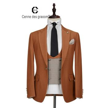 Wholesale price china supplier2020 new arrival cheap price men's suits brown formal wear for men