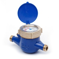 Southeast Asia standard custom ISO 4064 Class B 15mm multi jet dry type brass mechanical cold water meter