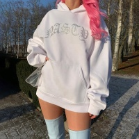 Custom long sleeve shiny oversized hoodies sweatshirts plain white women Jogger Tracksuit
