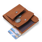 2020 Rfid Genuine Leather Men Wallets Card Holder Slim Thin Smart Magic Wallet Small Short Coin Purse Male Wallet