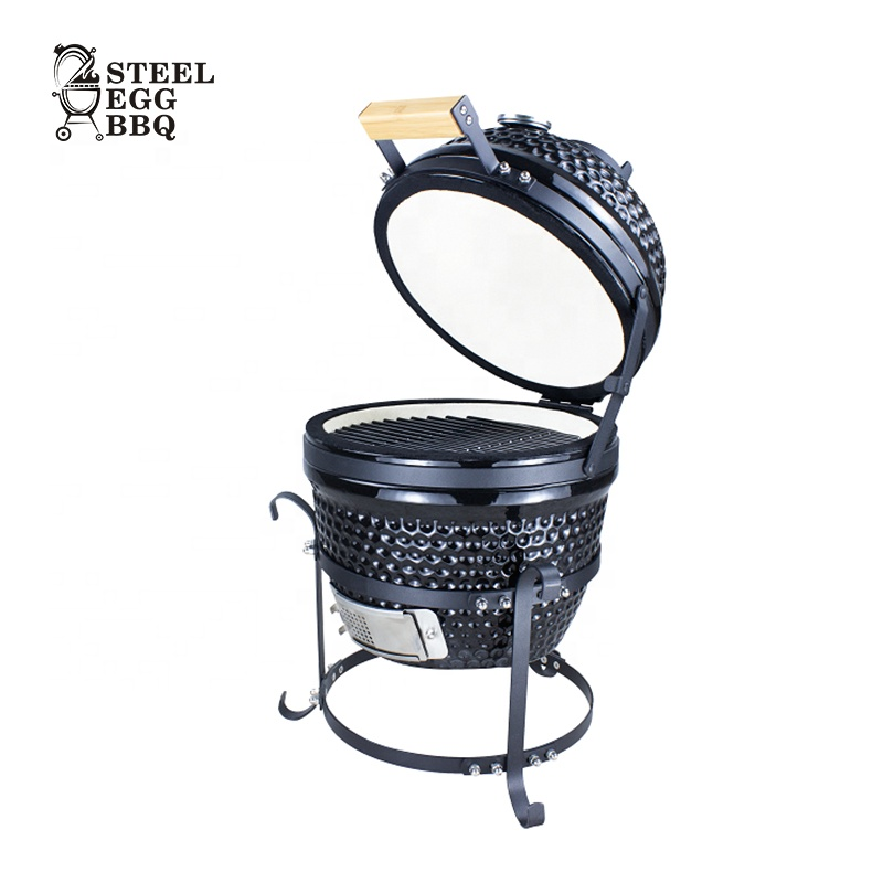SEB / STEEL EGG BBQ 2020 New China Manufacturer Ceramic <strong>Grill</strong> Kamado Portable 13 inch Mini Kamado Outdoor BBQ