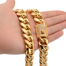 RTS 12mm 14mm HipHop PVD Gold Überzug Dick Cuban Link Mens Miami Kette <span class=keywords><strong>Halskette</strong></span>