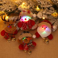 Christmas decorations, luminous hanging bell, brooch, snowman, bear, Christmas gift,