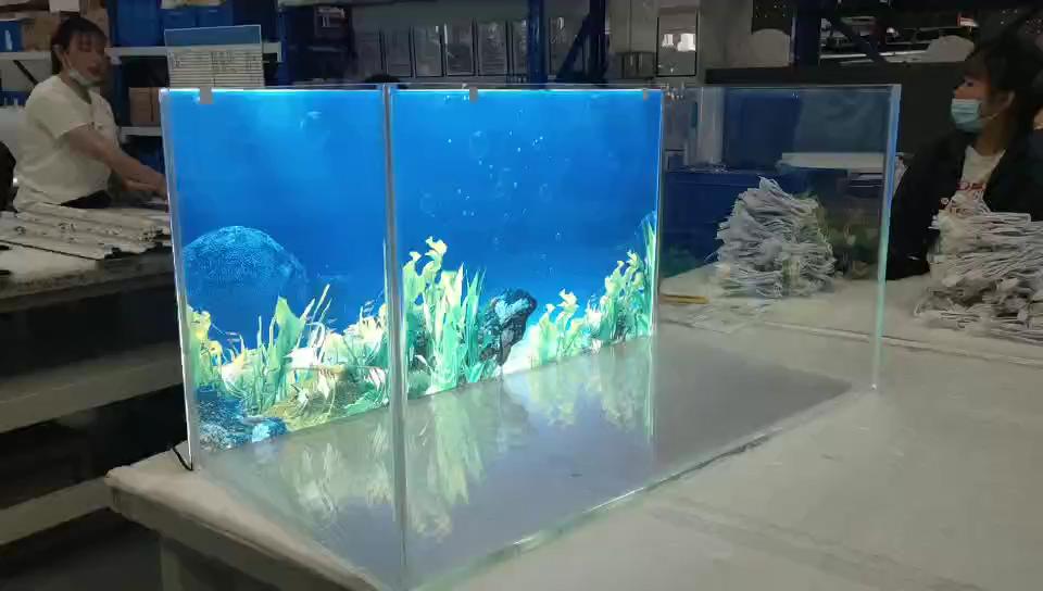 水槽のバックライト照明付き背景プログラム可能なled水族館照明120ワット