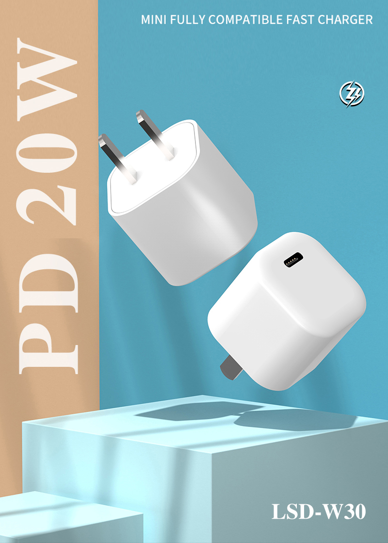 Single USB Port 20W PD Adaptif Ac/Dc Power Adapter 12V Pengisian Cepat 18W Dinding plug Cepat USB Charger untuk Iphone12 11 Charger