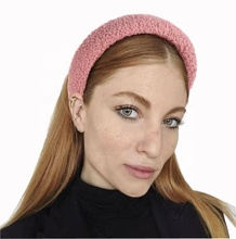 Fashion Vintage Winter <span class=keywords><strong>Hoofdband</strong></span> Vrouwen Brede Haarband Dikke Spons Fluwelen Head Band