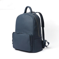Quality Polyester Blue Backpack School Bag Boy,Backpack Secret Pocket,Navy Blue Leather Backpack