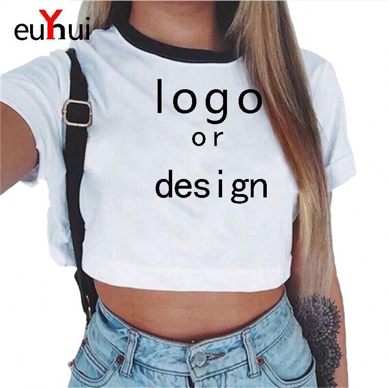 Yuehui 2020 custom logo Navel sexy women T shirt