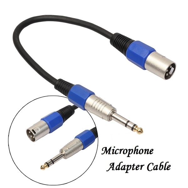 "Best Price Professional 3Pin XLR Male Jack to 1/4"" 6.35mm Male Plug Stereo Microphone Cable"