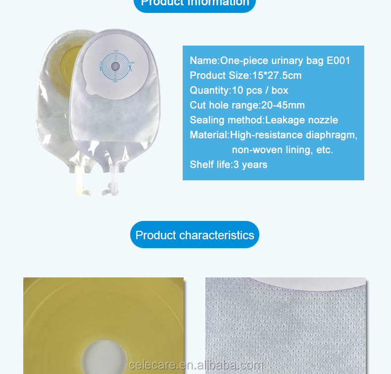 CELECARE Medical One Piece Drainable With Hydrocoilled Adhesive Ostomy Bags