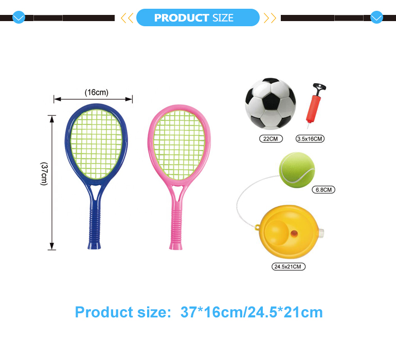 Kinderen Populaire Outdoor Sport Spel Speelgoed Set Tennis Training En Voetbal 2 In 1