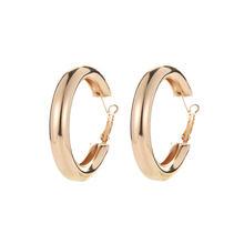 Женские круглые серьги-кольца с кристаллами, вечерние ювелирные изделия золотого цвета, аксессуары для пирсинга, большие размеры(Китай)