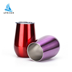Egg Shaped Cup Stemless Metal Tumbler Stainless Steel Portable Wine Tumbler