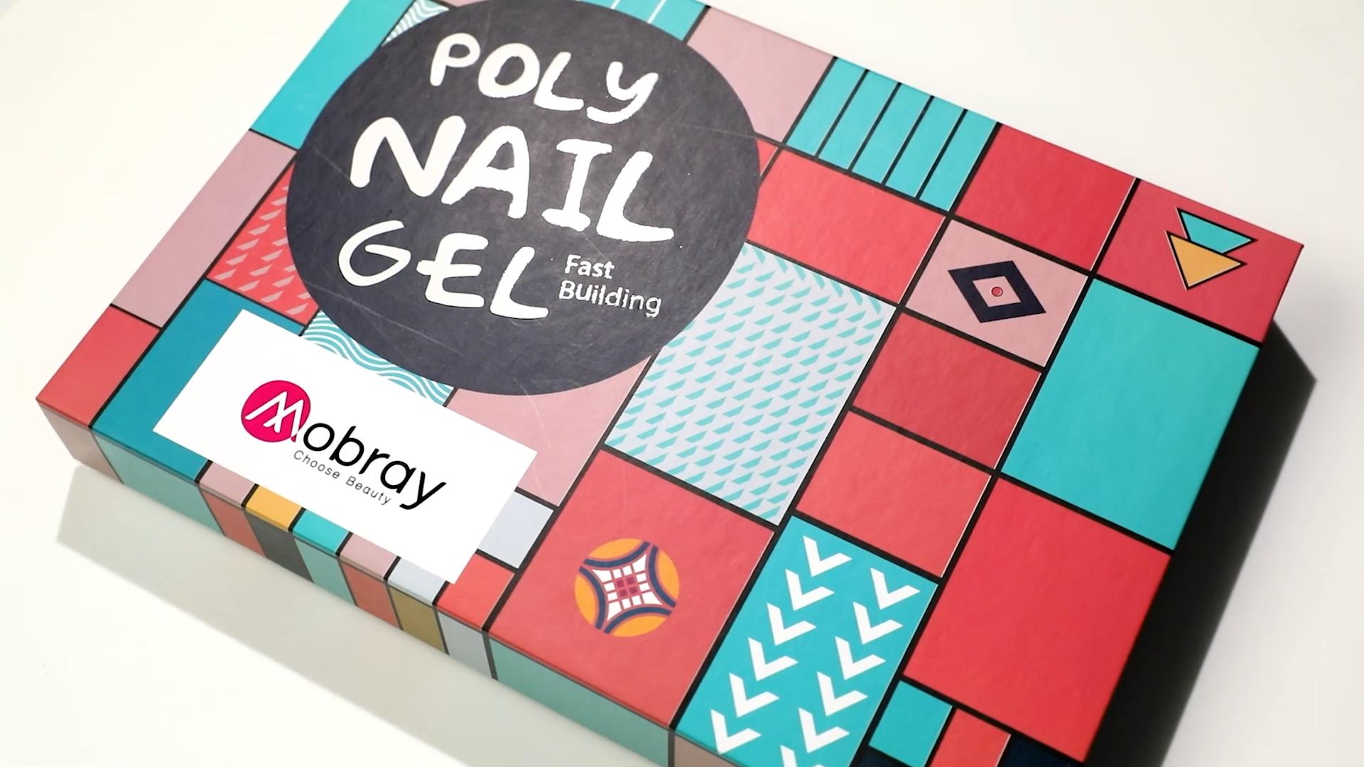 Mobray Crystal Poly Gel Set OEM ODM Private Logo Poly nail Gel 15ml 6 pcs kit Top Base Coat Builder Extension Nail Poly gel kit