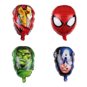 Cartoon Shape Foil helium Balloons Cartoon Party Decorations Superman Themed Spiderman Balloons globes