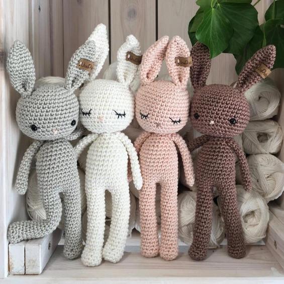 ขายส่งเด็กโครเชต์แกะ Amigurumi 100% Handmade กระต่ายของเล่น