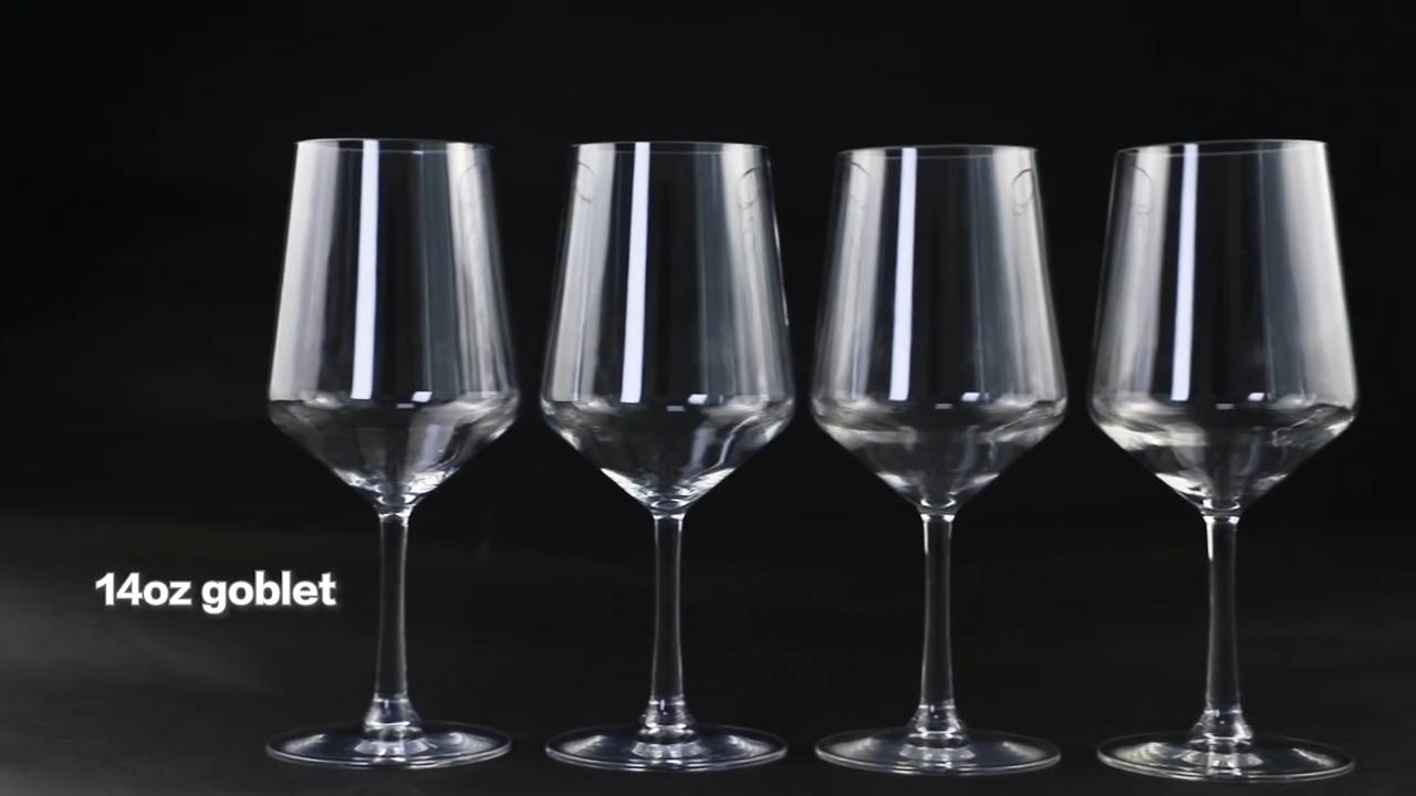 Manufacturers  Decorative Large Clear Elegant Wine Tumbler Glass Colored Glasses Crystal Custom Wine Glasses