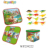 new design battery operated easy assemble block game plastic musical marble run toy with light