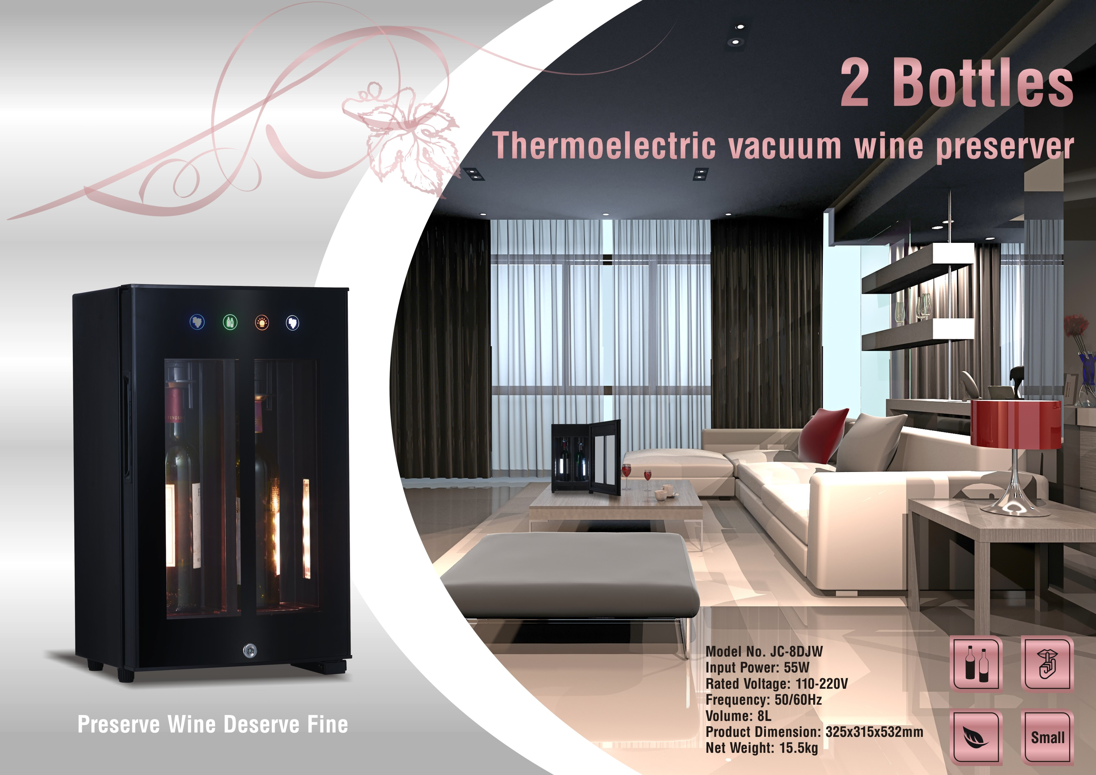 Thermoelectric Vacuum Wine Preserver, Thermoelectric Cooling Wine Cooler