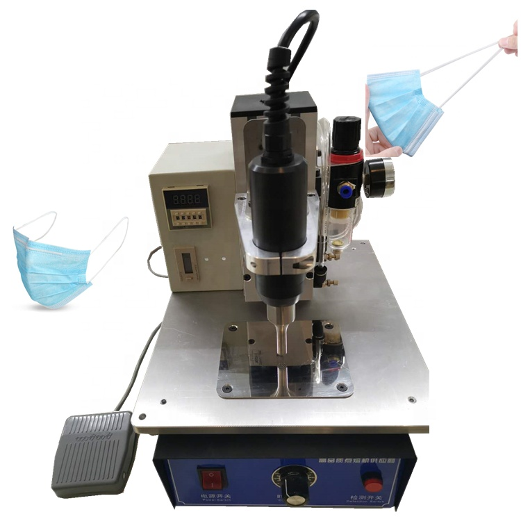 non-woven favric surgical masks making machine, ultrasonic spot <strong>welding</strong> machine for N95 mask ear loop elastic band