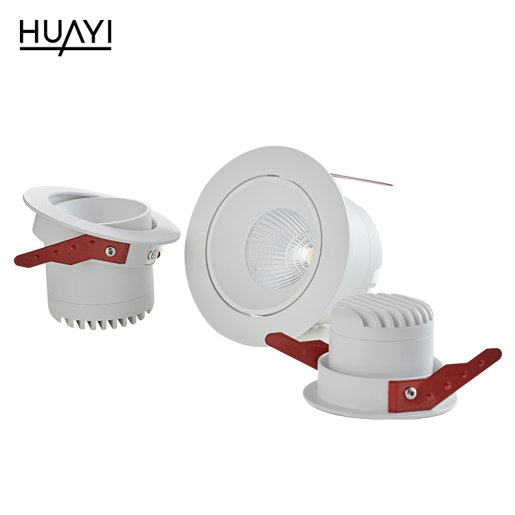HUYAI High lumen simple style aluminum 7watt 12watt 18watt indoor recessed led spot light