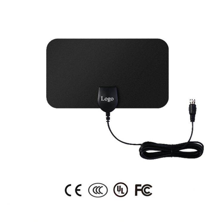 Free Sample Indoor HDTV Active Antenna Small Portable Digital TV Antenna