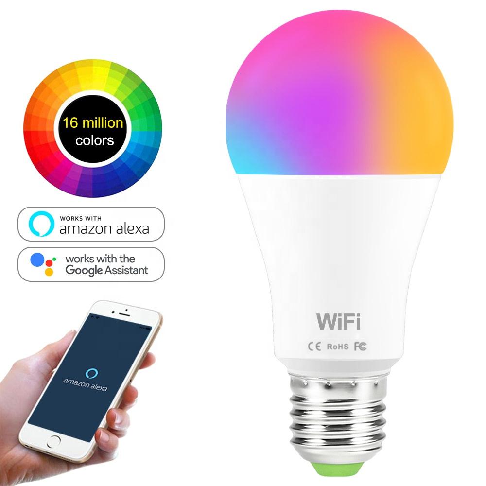 CTORCH Aluminum+Pc Rgbw Compatible E27 7W 9W 12W Light Wifi Led Smart Bulb With Alexa