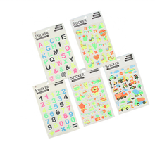 Cartoon glitter puffy <span class=keywords><strong>stickers</strong></span> voor kinderen decoratieve gift
