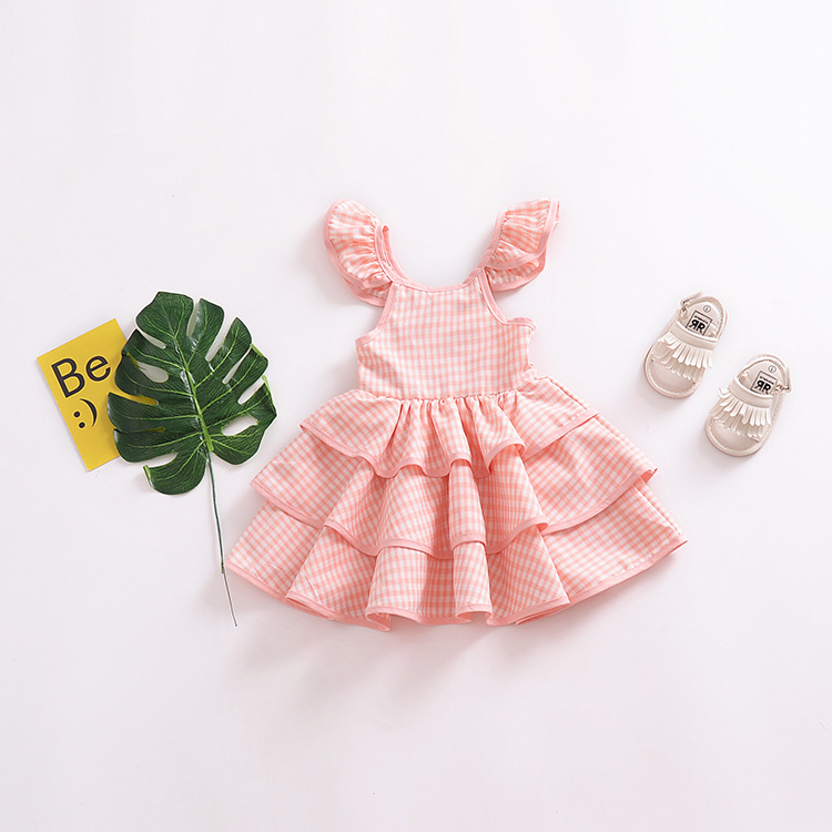 High quality <strong>kids</strong> casual <strong>fashion</strong> <strong>girls</strong> pink party puffy dresses for <strong>kids</strong>