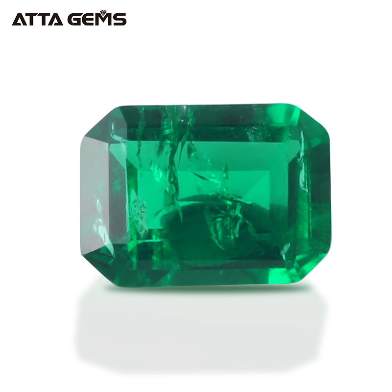 Lab Created Zambian Emerald Stone Prices 9*7mm 2 Carat Synthetic Russian Emerald Price Per Carat