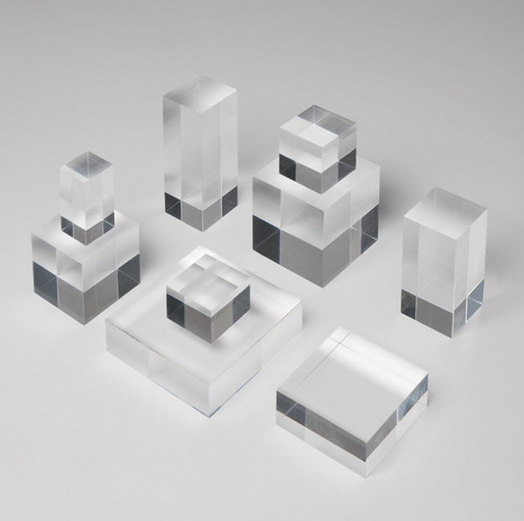 Bianco perspex blocco Nero Lucite cubi Acrilico block
