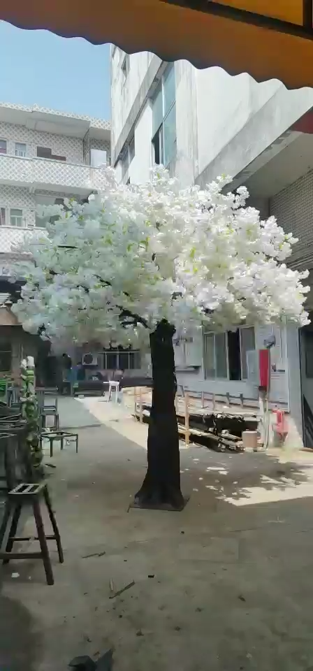 De interior al aire libre personalizado alta cereza Artificial Árbol de la flor decoración de la boda de los árboles