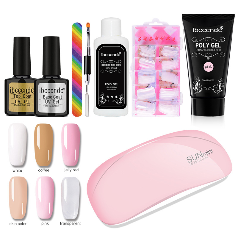 Wholesale poly <strong>gel</strong> set 6 Colors Builder <strong>gel</strong> nail kit for starter Jelly Acrylic <strong>Gel</strong> Set For Manicure