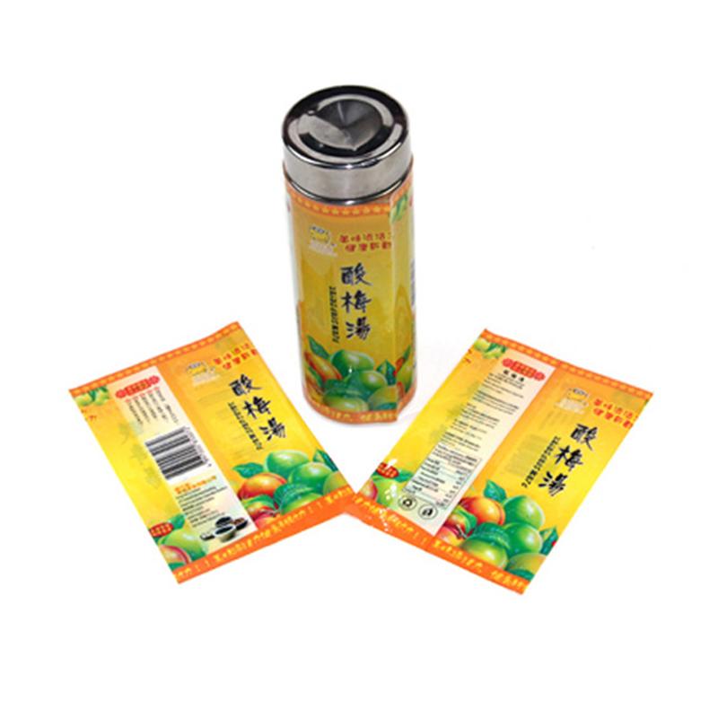 China Fabrik Flasche Verpackung PVC PET Schrumpfen Hülse Film Angepasst Druck Transluzenten Kunststoff Schrumpfen Label