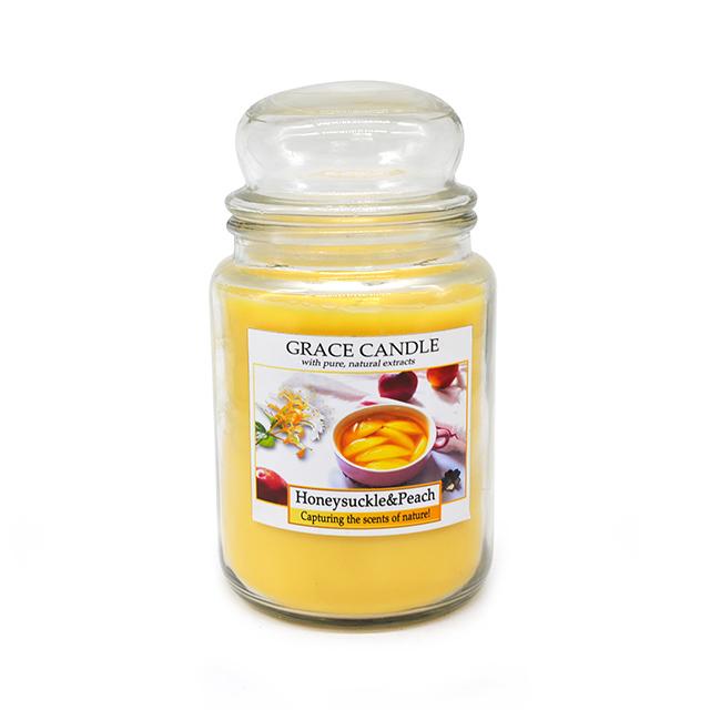 Di alta qualità yankee stile cera di soia candela con diversi profumo