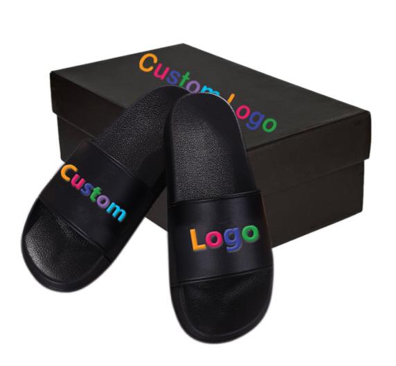 Fashion Custom Logo Indoor Outdoor Slippers For Men And Women Blank Slipper Slide, Black/white/red/blue/pink/yellow/green