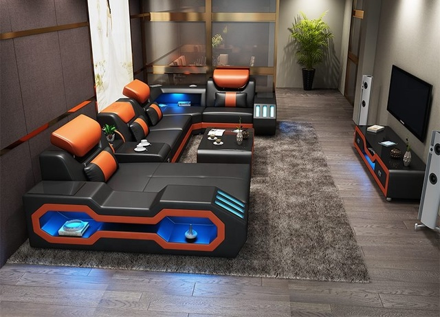 Excellent New Music Player Usb Lights Living Room Sofa Set Real Leather Sofa Buy Leather Sofa Sofa Living Room Sofa Product On Alibaba Com Machost Co Dining Chair Design Ideas Machostcouk