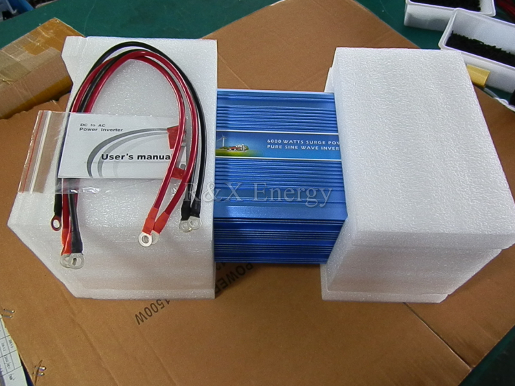 6000W Off Grid Pure Sine Wave DC Ke AC Single Phase Angin Solar Hybrid Inverter