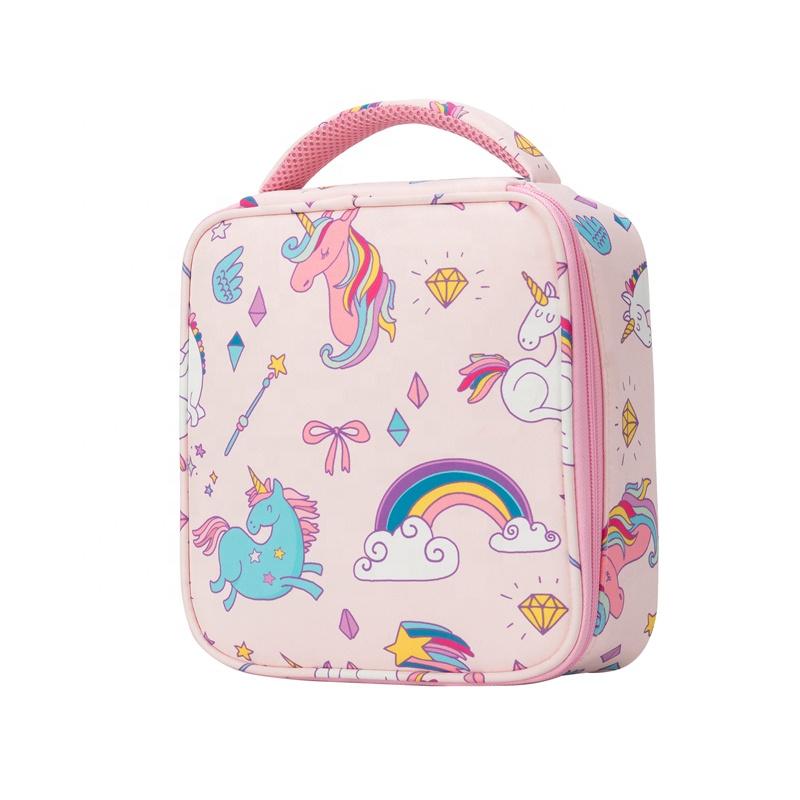Heopono милая детская термопереноска еды для мальчиков и девочек без бисфенола А многоразовая Экологически чистая мультяшная Изолированная обеденная сумка с единорогом для детей