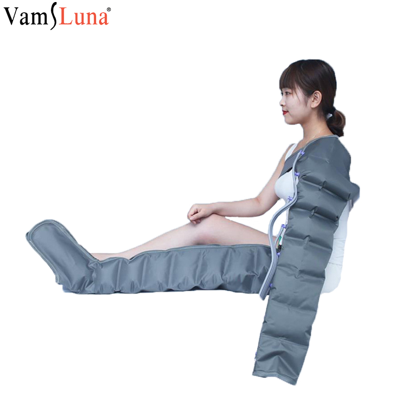 8 luft taschen Elektrische Air Compression Massager Taille Arm Bein Wraps Fuß Knöchel Kalb Massage Presoterapia Schmerzen Entspannen Gesundheit Pflege