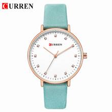 CURREN часы женские известный бренд кожа элегантные женские наручные часы водонепроницаемые горный хрусталь Женские часы подарки Relogio Feminino(Китай)