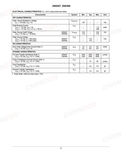 Details about  /10PCS 2N5457 2N5457G TO-92 N-Channel Transis EM