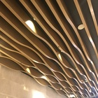 Decorative metal ceiling panels suspended tiles wood baffle ceiling