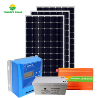 2 days battery backup 3kw home solar lighting system