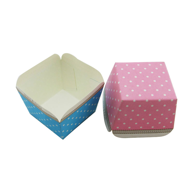Hoge Kwaliteit Blauwe Vierkante Cupcake Liners Papier Muffin Cups