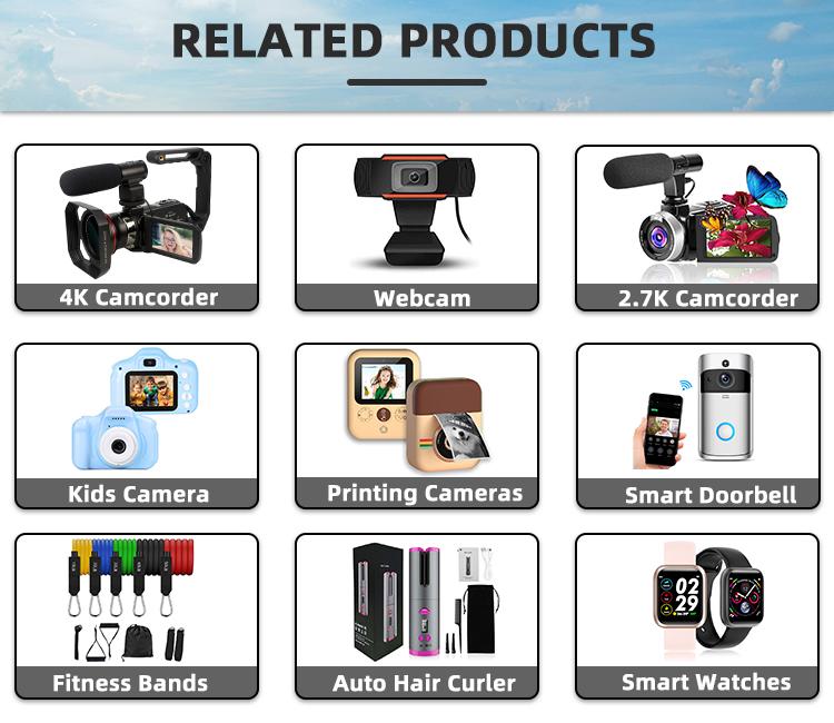 ビデオカメラビデオカメラ 2.7k hdカメラレコーダー 30mp 18xデジタルズーム 3 インチタッチスクリーンvloggingカメラ